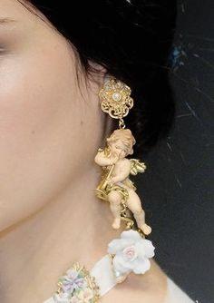 chandelyer: earrings at Dolce & Gabbana fall 2012
