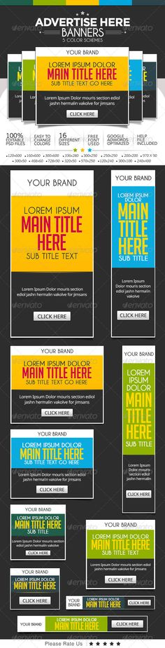 Text Based Banner Ads Template PSD | Buy and Download: http://graphicriver.net/item/text-based-banner-ads-/7518721?WT.ac=category_thumb&WT.z_author=BannerDesignCo&ref=ksioks