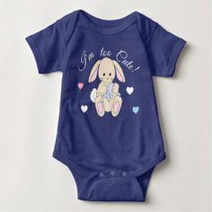 Bunny Rabbit Heart Valentine Love Baby Nursery Baby Bodysuit - valentines day gifts love couple gift idea my love valentine