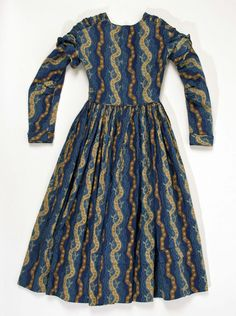 $50 US  child's cotton dress. Original: 1840 American