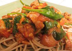 Turkey Sausage Spaghetti