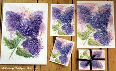 Original PRINT of Lilac Love  Watercolor by McKinneyx2Designs