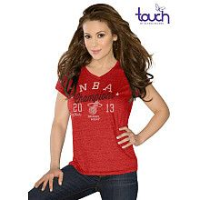 Touch by Alyssa Milano Miami Heat 2013 NBA Finals Champions V-Neck Tri-blend T-Shirt - NBAStore.com