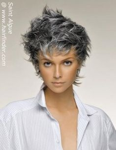 Gray Hairstyles medium layered gray hairstyle Gray Hairstyles Mommy Hairstyles Layered Hairstyles Hairdos Aging Gracefully Going Gray Haircolor Hair Beauty Beauty Tips