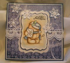 Forever friend xmas card by Iren S. Mikalsen, coloring distress ink.