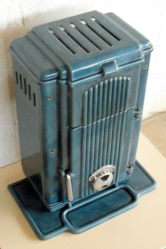 Classic antique French art deco woodburner stove