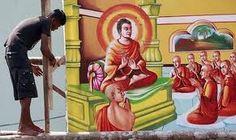 In the month of May people erect structures of this nature to pay homage to the Buddha.(Sri Lanka)