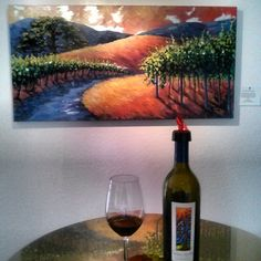Wine and Art, a perfect marriage at Darcie Kent Vineyards in Livermore Ca