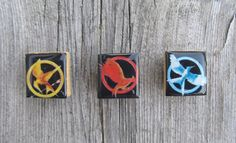 The Hunger Games magnets  Girl on Fire  Mockingjay by MontanaMagic, $4.50
