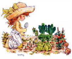Planting Veggies Sarah Key, Vintage Drawing, Holly Hobbie, Baby Prints, Photo Illustration, Clip Art, Tan Solo, Google, Friendship