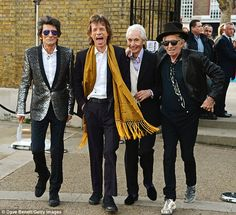 The boys are back in town! Mick Jagger, Keith Richards, Ronnie Wood and Charlie Watts brushed-off allegations of a rift as they joined forces for the launch of their brand new memorabilia exhibition, this week