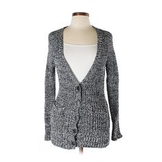 Pre-owned American Eagle Outfitters  Cardigan Size 8: Black Women's... ($15) ❤ liked on Polyvore featuring tops, cardigans, black, american eagle outfitters and cardigan top