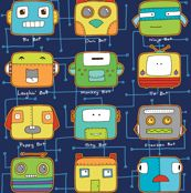 Bitty Bots by pattysloniger, click to purchase fabric