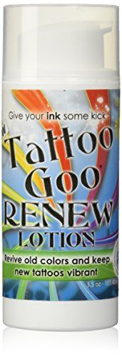 Tattoo Goo Renew Lotions-- Revive Old Colors & Keep New Tattoos Vibrant!! (3.5oz, Renew Lotion)