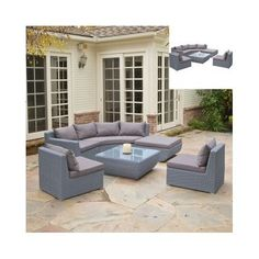 Outdoor-Wicker-Sectional-Sofa-Modular-Patio-Furniture-Table-Couch-Lounge-Modern