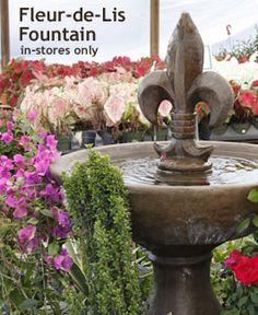Fleur De Lis Fountain Would Love To Make A Fountain Or Birdbath Like