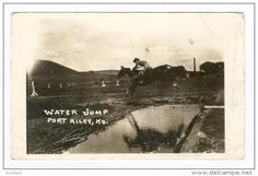 RP Fort Riley Kansas , 00-10s : US Army Calvary Soldier on horse at water jump - Delcampe.com