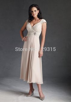 Find More Mother of the Bride Dresses Information about Free shipping custom made A Line cap sleeve V Neck chiffon lace tea length mother of the bride dresses plus size,High Quality dress womens,China veil lace Suppliers, Cheap veil wedding from Molly's Kids Clothes Store on Aliexpress.com