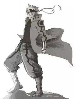 naruto with  full genshroki sage