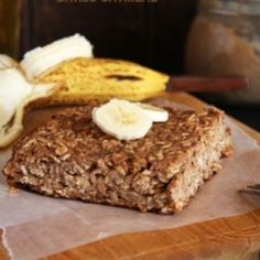 Banana Carob Baked Oatmeal HealthyAperture.com