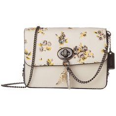 COACH Prairie Print w/ Rebel Charm Bowery Crossbody (DK/Chalk Multi)... ($295) ❤ liked on Polyvore featuring bags, handbags, shoulder bags, crossbody shoulder bag, coach purses, hand bags, military shoulder bag and long strap purse