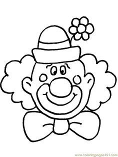 Clown Coloring Sheets clown coloring pages free printable coloring page circus Clown Coloring Sheets. Here is Clown Coloring Sheets for you. Clown Coloring Sheets clown coloring pages for adults coloring pages fairy. Circus Theme Crafts, Clown Crafts, Carnival Crafts, Carnival Themes, Carnival Masks, Coloring Pages To Print, Free Printable Coloring Pages, Free Coloring, Coloring Pages For Kids