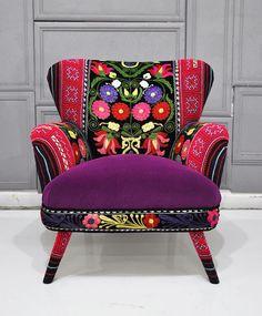 Patchwork armchair  by namedesignstudio via Etsy