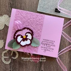 Craft Paper Storage, Stampin Pretty, Stampin Up Catalog, Making Greeting Cards, Stamping Up Cards, Handmade Birthday Cards, Card Tutorials, Card Making Inspiration, Flower Cards