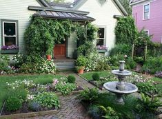 5 Admirable Cool Tips: Backyard Garden Planters Patio backyard garden pond fire pits.Backyard Garden On A Budget Fence backyard garden ideas awesome. Modern Landscape Design, Modern Landscaping, Front Yard Landscaping, Landscaping Ideas, Modern Design, Cottage Front Yard, Garden Cottage, Cottage Farmhouse, Front Porch