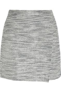 J.Crew | Origami wrap-effect metallic tweed mini skirt | NET-A-PORTER.COM