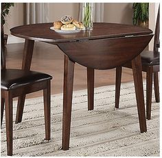 Dakota Round Drop Leaf Table - With the growing popularity of Mango Wood, the Brick wanted to add a beautiful, rustic looking dining set that featured a unique mango veneer finish. Dining Room Furniture, Dining Room Table, Dining Set, Kitchen Tables, Drop Leaf Table, Accent Pieces, Side Chairs, Interior Decorating, New Homes