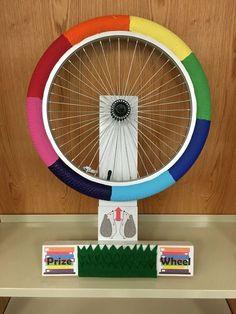 Image result for build bike tire spinning prize wheel