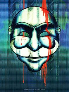 "0UR D3M0CR4CY H45 833N H4CK3D[[MORE]]Logo, Elliot Alderson, Mask © Mr. Robot, Sam Esmail, Anonymous Content, Universal Cable Productions, USA Network Pose reference © ""Sailor Defeat 38 + 39"" by..."
