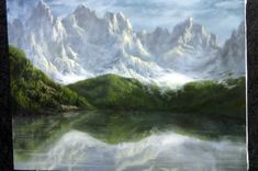 Have you ever tried painting reflections in water, only to have it end up being a muddy mess? Watch Kevin as he shows you how to paint this detailed snowy mountain with a realistic water reflection. For more information about brushes, go to www.paintwithkevin.com