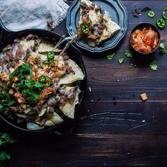 #vscocam It's kimchi bulgogi nachos! #ontheblog today
