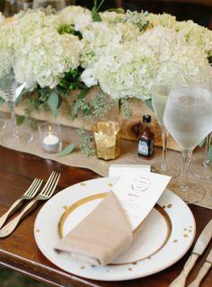 Wedding reception centerpiece idea; Featured Photographer: Abby Grace Photography