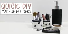 Add Space & Convenience with a Simple DIY Pantry · Crafts With Glass Jars, Mason Jar Crafts, Bottle Crafts, Diy Makeup Storage, Simple Makeup, Easy Makeup, Diy Bed, Makeup Organization, Easy Diy