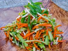 Vegan Carrot, Broccoli and Bean Shoot Salad...Salad Dressing Recipe too..