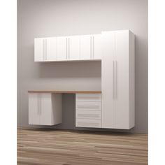 Constructed to be durable and handy, this workshop storage is perfect for organizing your workspace or home. The item includes adjustable shelf cabinets and drawers that offers a lot of space for your