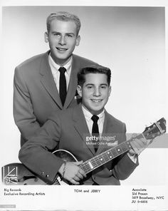 Left to right Art Garfunkel and Paul Simon as Tom and Jerry pose for a portrait circa 1957 in New York City, New York.