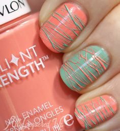 Spun Sugar #NailArt with @Revlon Brilliant Strength Nail Enamel | AllLacqueredUp.com