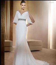 Sexy V Neck Chiffon Wedding Dress Bridal Gowns Evening Dresses Custom Size in Ropa, calzado y accesorios, Boda y ocasión formal, Vestidos de novia | eBay