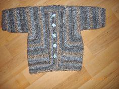 Baby Surprise Jacket for charity knit. Elizabeth Zimmerman original pattern.