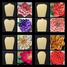 Resultado de imagen para medidas de flores gigantes de papel