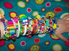 Items similar to Lot of 10 random single kandi bracelets on Etsy Scene Kids, Emo Scene, Kandi Bracelets, Horror Themes, Rawr Xd, Character Aesthetic, Soyeon, Colorful Fashion, Cool Stuff