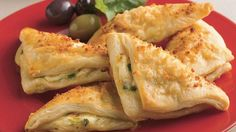 Cheese Crescent Triangles(lots of fun recipes using canned crescent rolls)