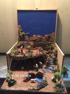 Un belen de guardar... Christmas Time, Merry Christmas, Snowman Crafts, Winter Springs, Diorama, Ideas Para, Nativity, Diy And Crafts, Miniatures