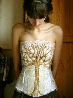 bird tree corset by meadowdoe, via Flickr