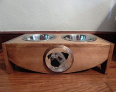 elevated dog bowl standcustom dog от SealsFamilyWoodworks на Etsy