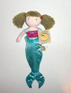New Bonikka Plush Doll MERMAID, Brunette Hair.  #dolls #toys #mermaids